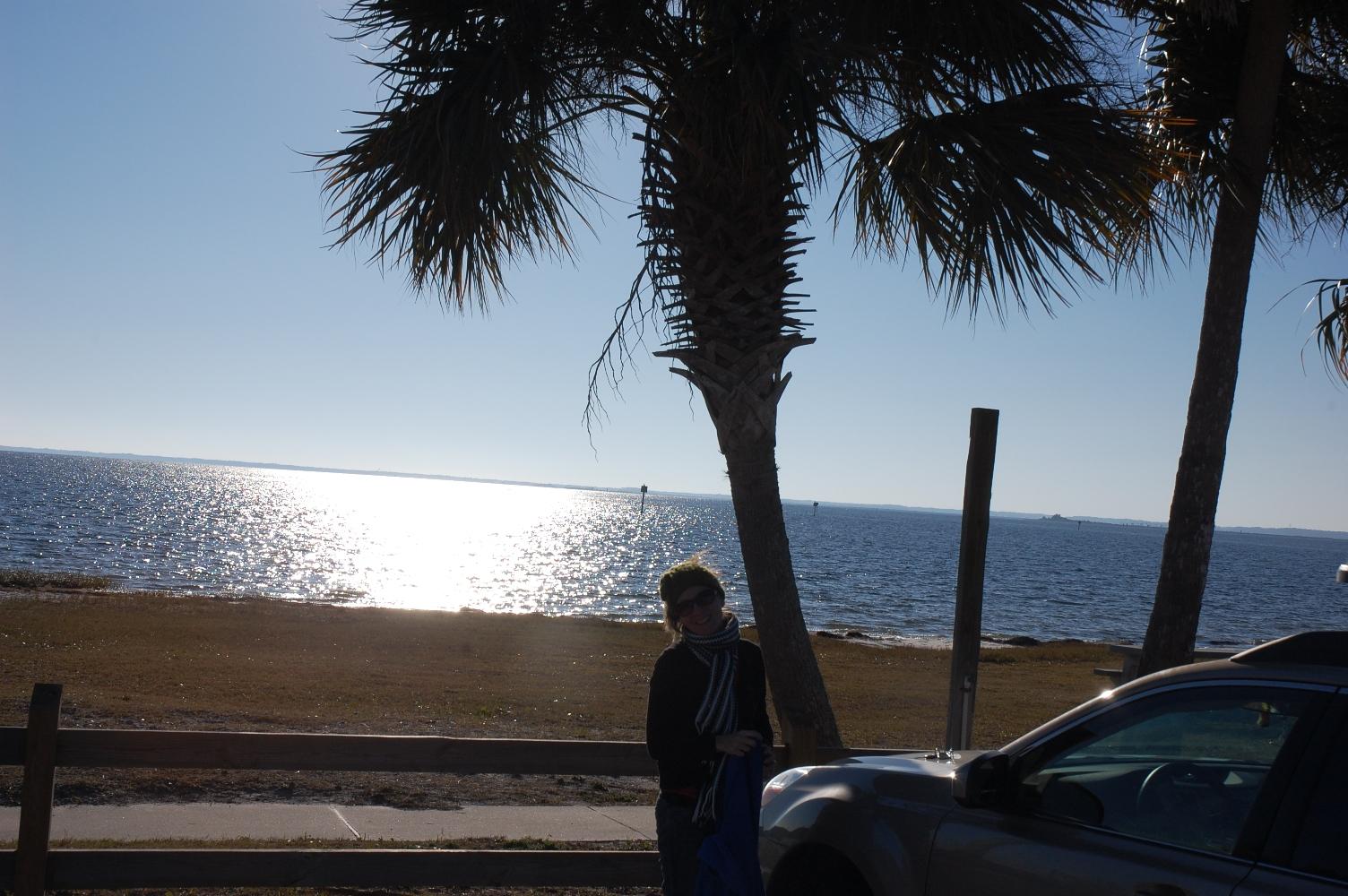 Corey and a palm tree
