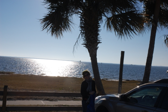 Corey and a palm tree
