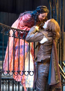 Christopher Allen (Romeo) and Laura Rook (Juliet) Photo by Michael Brosilow