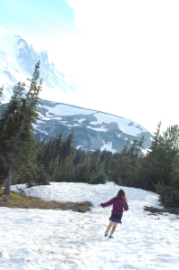Although a nature trail, it was a glorious first climb up to capture views of the mountain while in the snow.