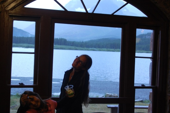 At Many Glacier Lodge