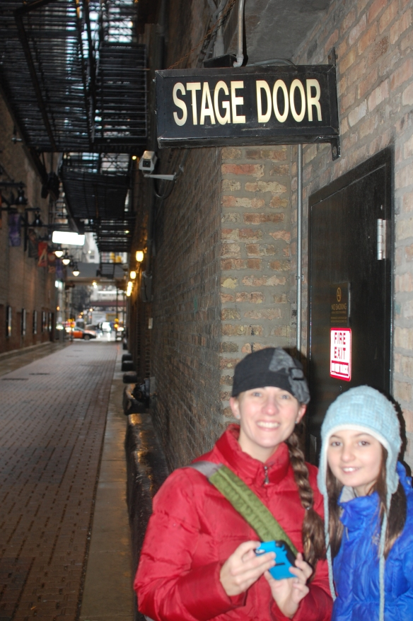 Hanging out at the Stage Door