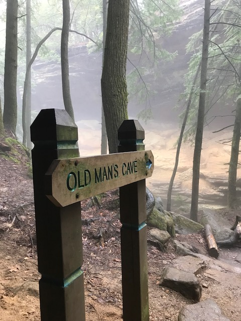 Sign at Hocking Hills State Park
